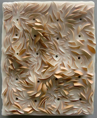 Christine Kyle Combines Egg Shells And Encaustic Into